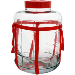 Банка стеклянная с гидрозатвором 26 л. (с отверстием)