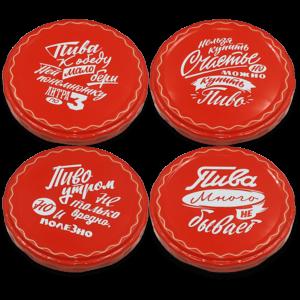 Крышка Твист-офф III-82 (ТОКК) Пиво Красные Надписи