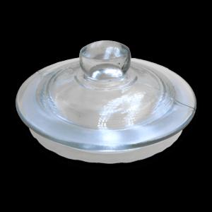 Крышка стеклянная для банки стеклянной с гидрозатвором